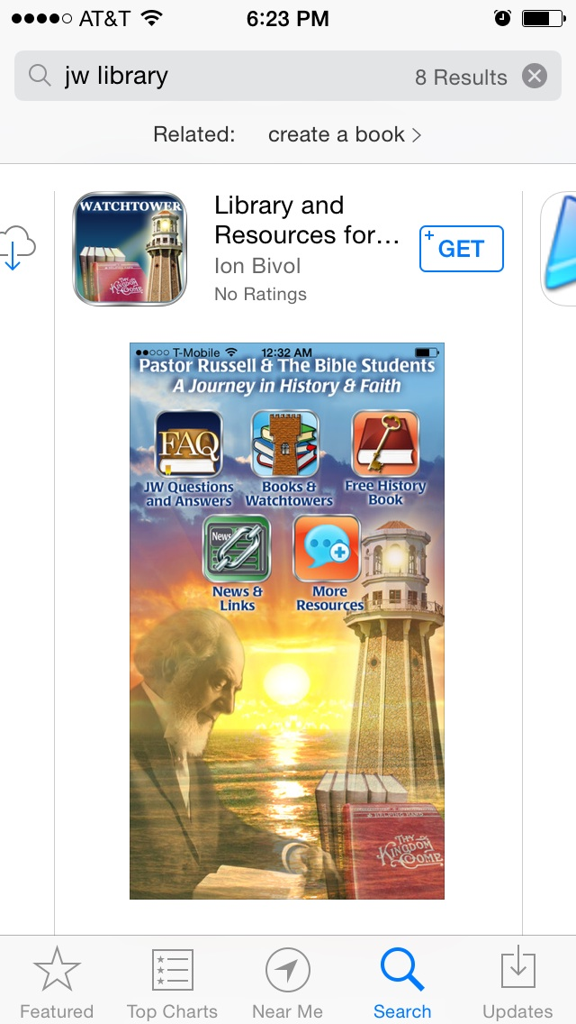 Russellite app masquerading as a JW app - Interchange of