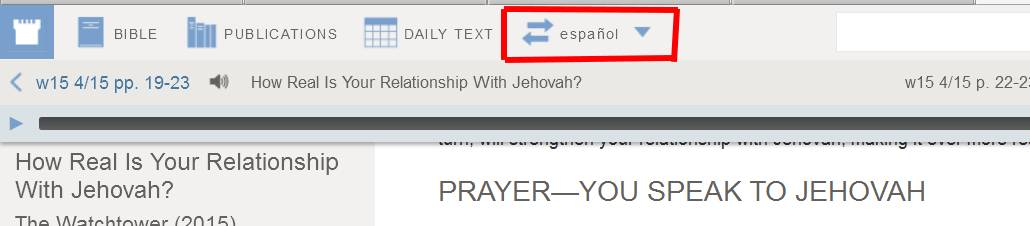 How To Select Another Language In Watchtower Online Library Wol